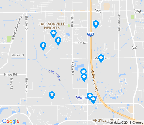 map of McGirts Creek apartments for rent