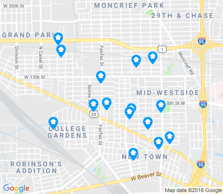 map of Mid-Westside apartments for rent