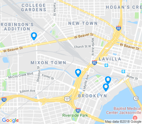map of Mixon Town apartments for rent