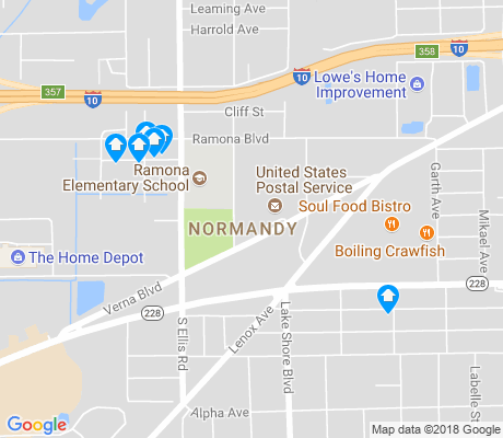 map of Normandy apartments for rent