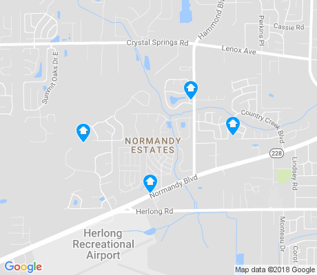 map of Normandy Estates apartments for rent