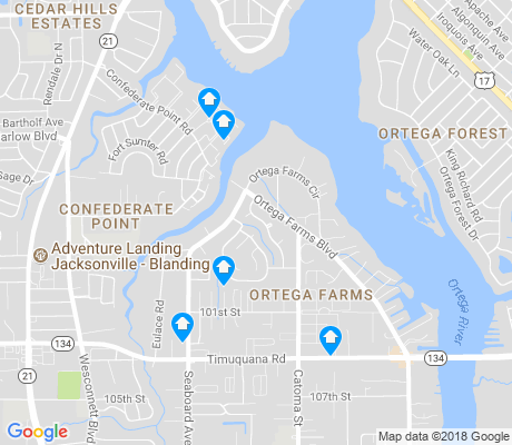 map of Ortega Farms apartments for rent