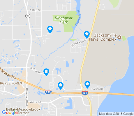 map of Ortega Hills apartments for rent