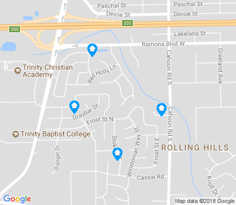 map of Rolling Hills apartments for rent