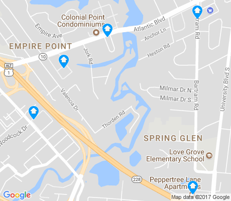 map of Spring Glen apartments for rent