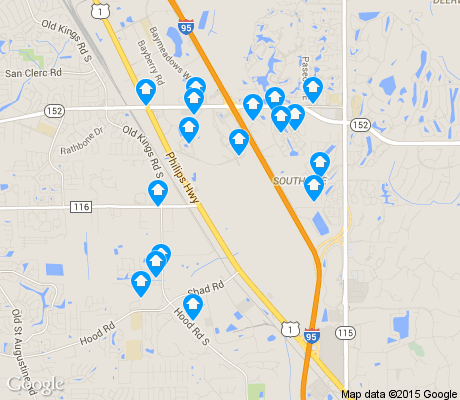 map of Swamp apartments for rent