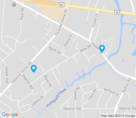 map of Tiger Hole-Secret Woods apartments for rent