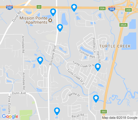 map of Turtle Creek apartments for rent