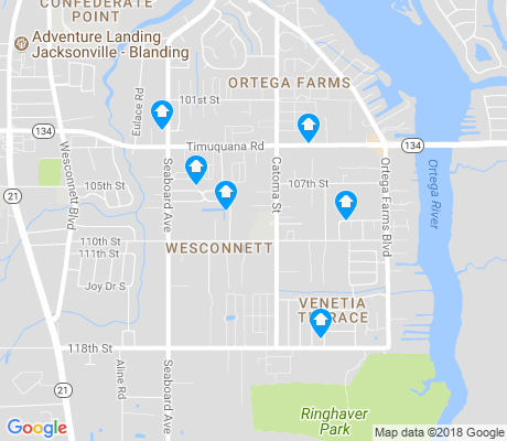 map of Wesconnett apartments for rent