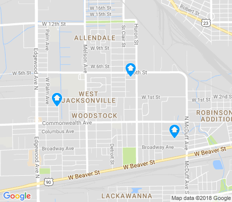map of Woodstock apartments for rent