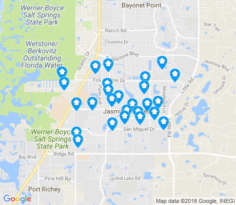 map of Jasmine Estates apartments for rent