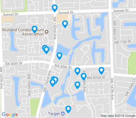 map of Kendale Lakes West apartments for rent