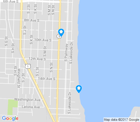 map of South Palm Park apartments for rent