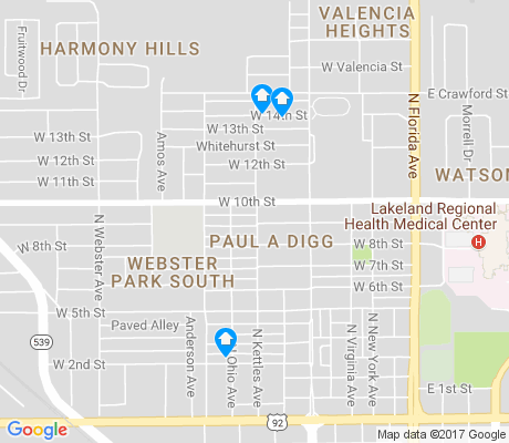 map of Paul A Diggs apartments for rent