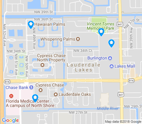 map of Lauderdale Lakes West Gate apartments for rent