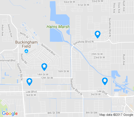 map of Harris apartments for rent