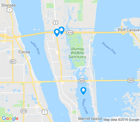 map of Merritt Island apartments for rent