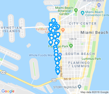 map of West Avenue apartments for rent