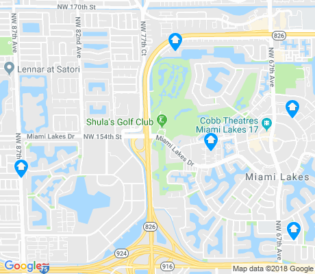 map of Miami Lakes apartments for rent