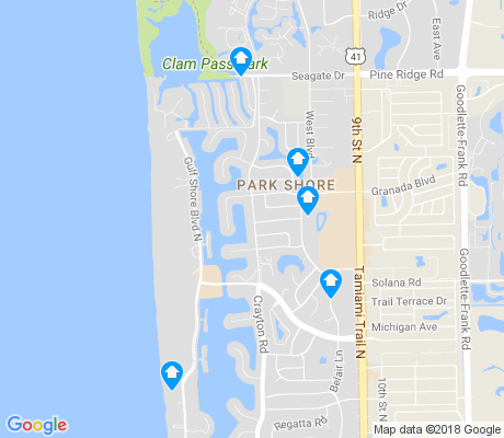 map of Park Shore apartments for rent
