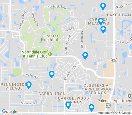 map of Northdale apartments for rent