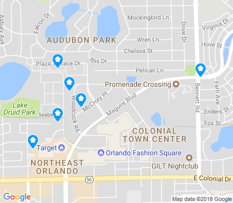 map of Colonial Town Center apartments for rent