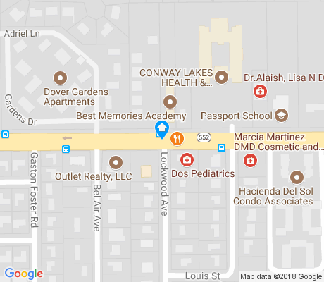 map of Dover Estates apartments for rent