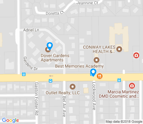 map of Dover Manor apartments for rent