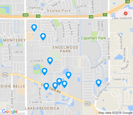 map of Engelwood Park apartments for rent