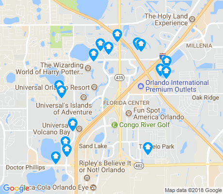 map of Florida Center apartments for rent