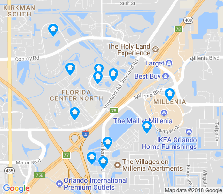 map of Florida Center North apartments for rent