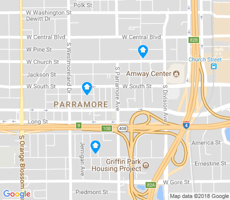 map of Holden-Parramore apartments for rent