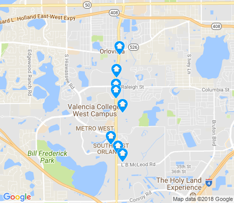map of Kirkman North apartments for rent
