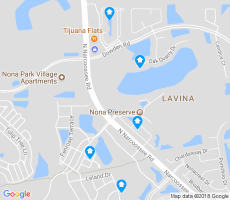 map of LaVina apartments for rent