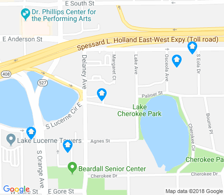 map of Lake Cherokee apartments for rent