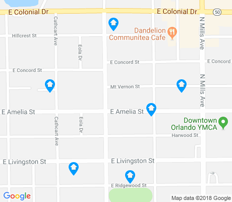 map of Lake Eola Heights apartments for rent