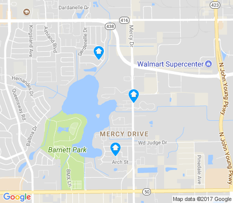 map of Mercy Drive apartments for rent
