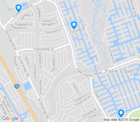 map of Palm Harbor apartments for rent