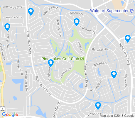 map of Pine Lakes apartments for rent