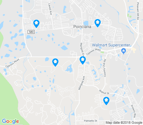 map of Poinciana apartments for rent
