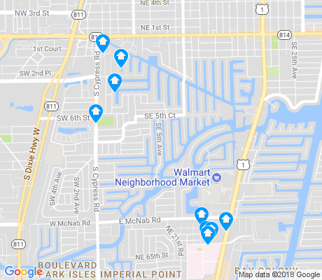 map of Garden Isles apartments for rent