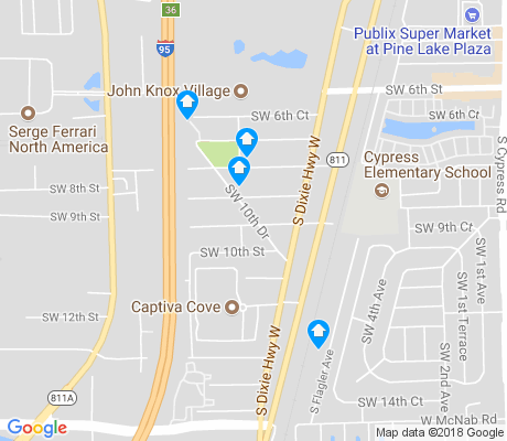 map of South Dixie apartments for rent