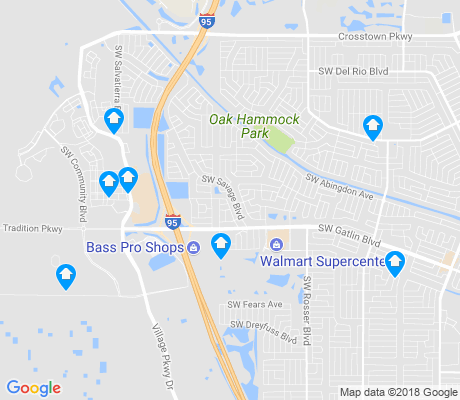 map of Port St. Lucie apartments for rent