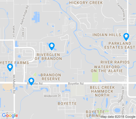 map of Boyette apartments for rent