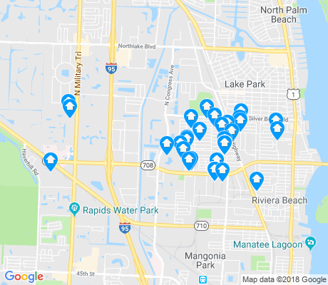 map of Riviera Beach apartments for rent