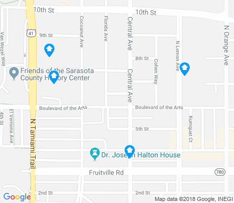 map of Rosemary District apartments for rent