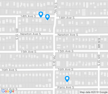 map of Bartlett Park apartments for rent