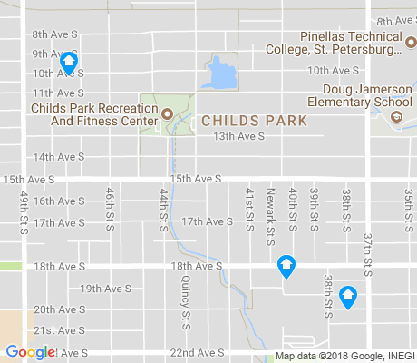 map of Childs Park apartments for rent