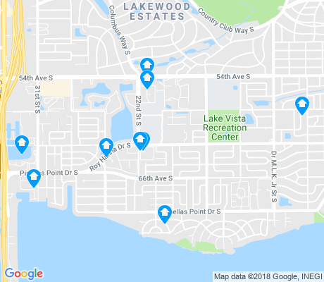 map of Greater Pinellas Point apartments for rent