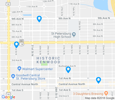 map of Historic Kenwood apartments for rent